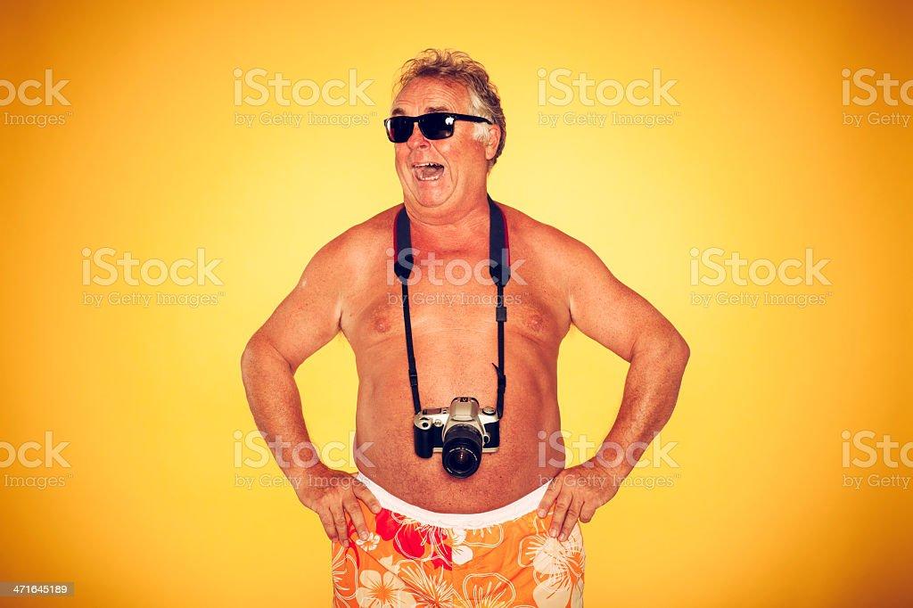 The Tourist - Cool Camera Humor Hawaiian royalty-free stock photo