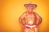 The Tourist - Cool Camera Sombrero Humor Hawaiian
