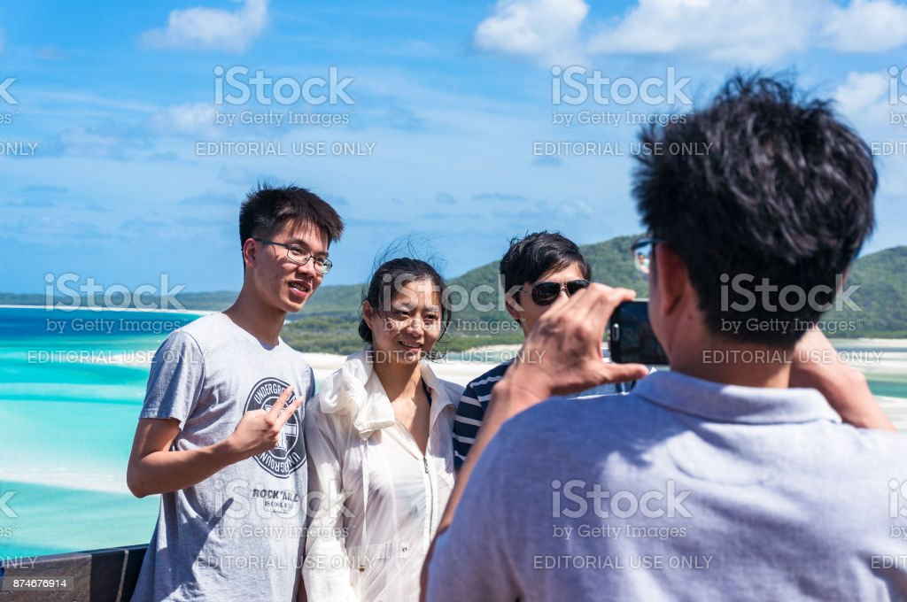 The tourists taking photos, shots stock photo