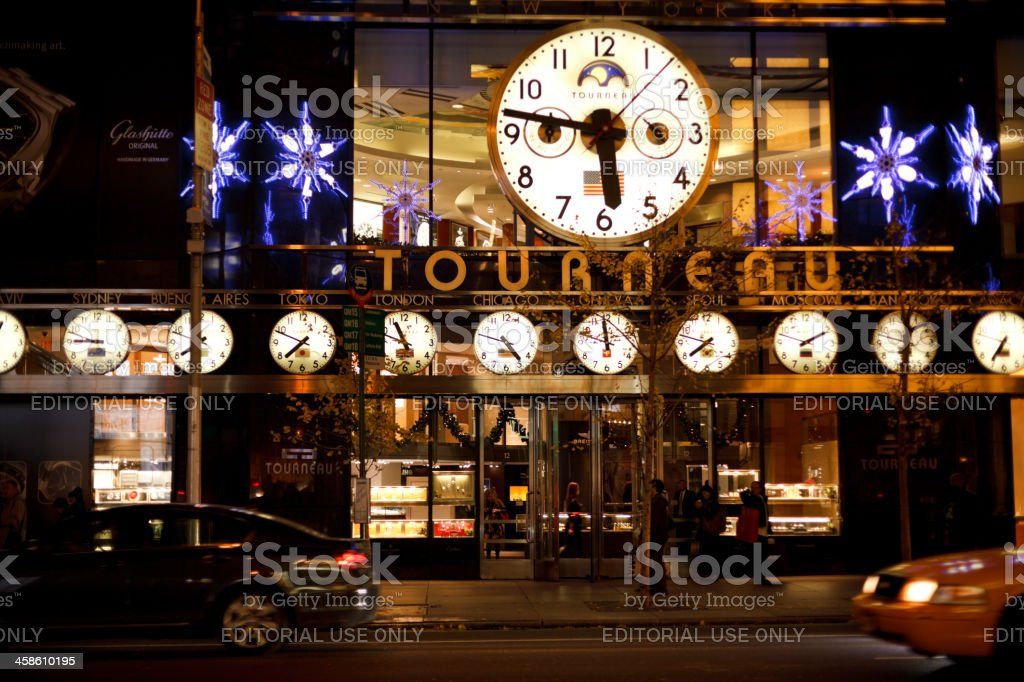 The Tourneau Timemachine 57th Street Manhattan Stock Photo