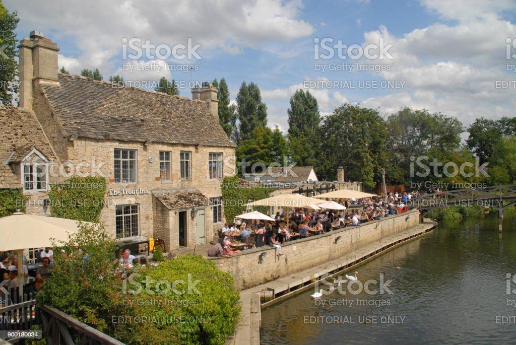 The Tout Inn near Oxford stock photo
