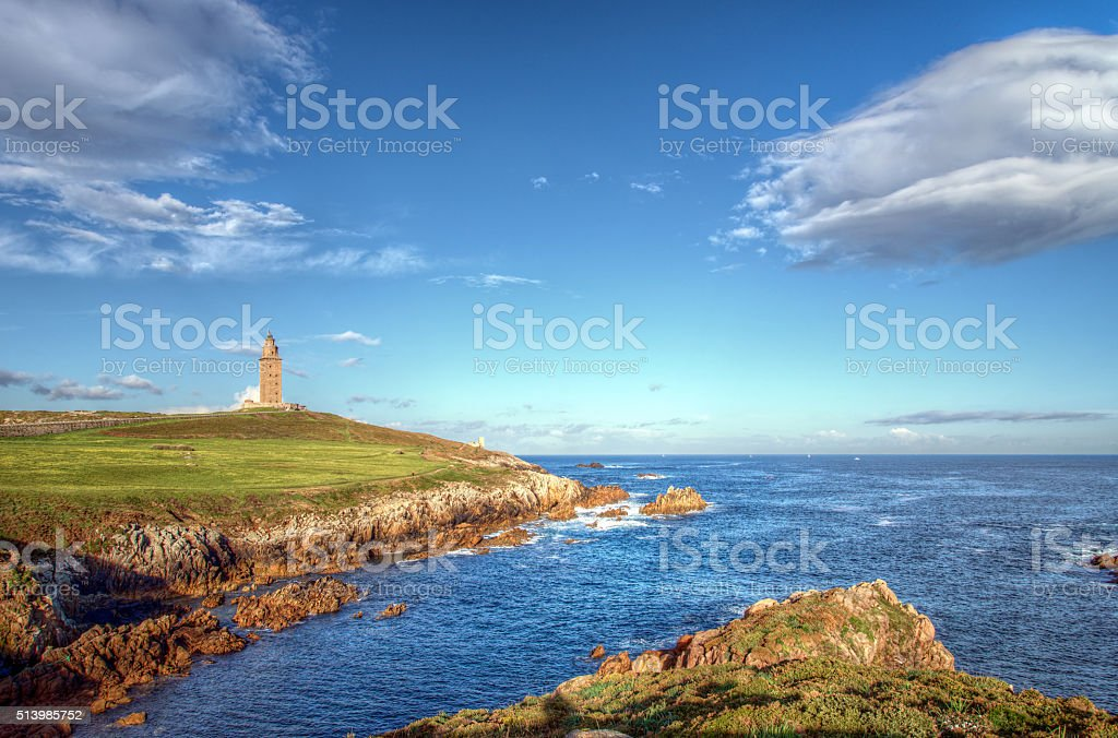 The Tower of Hercules stock photo