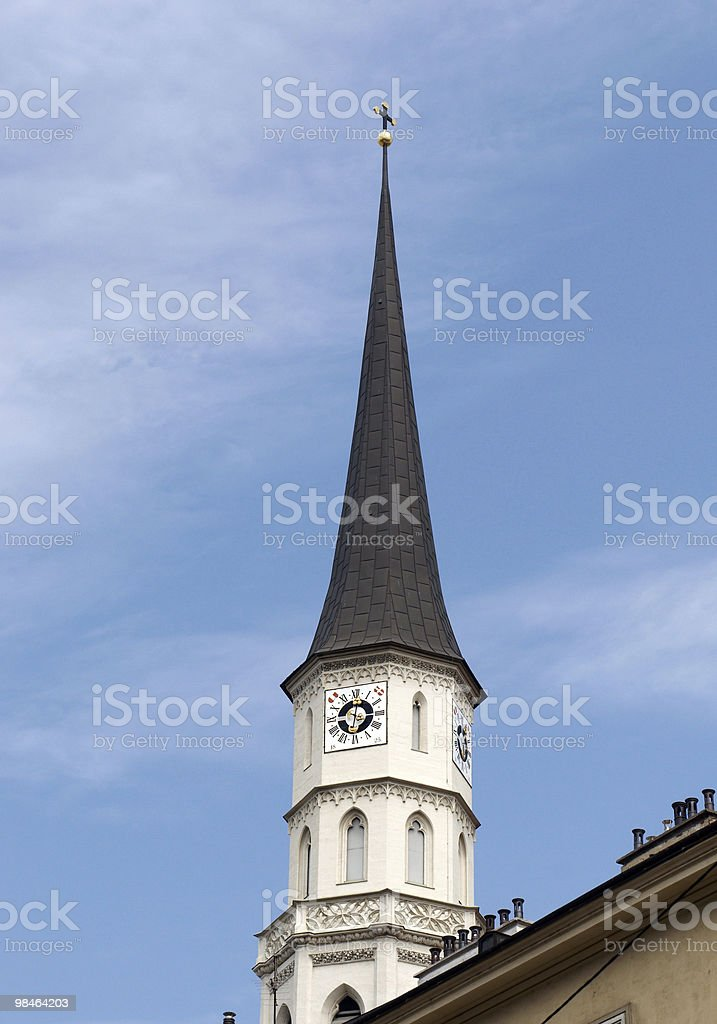 The tower of Imperial Stables (Stallburg) royalty-free stock photo