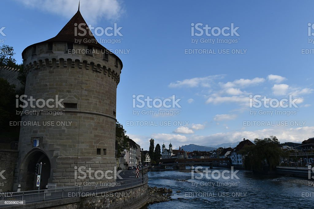 The Tower of Luzern stock photo
