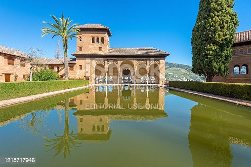istock The Tower of the Ladies, The Partal, Alhambra, Granada, Spain 1215717946