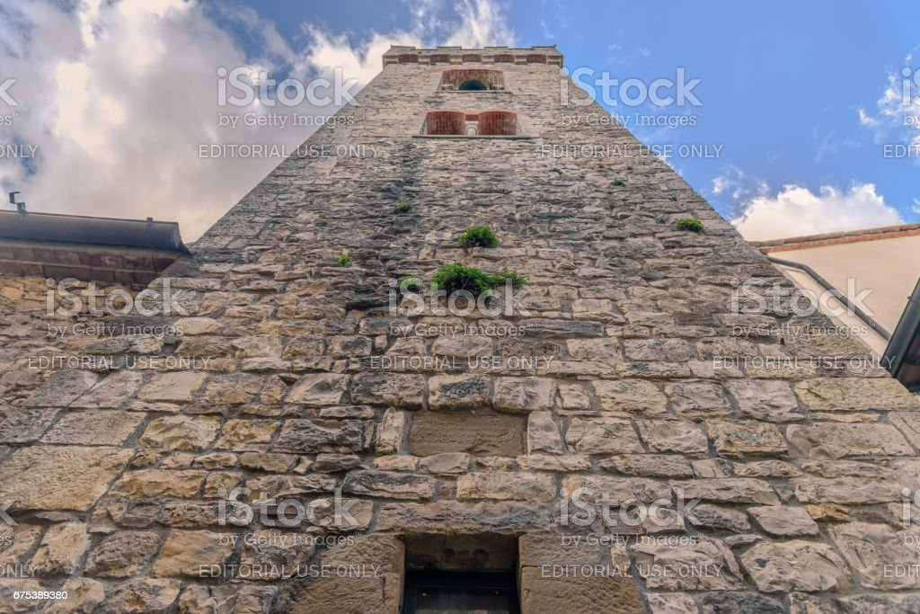 The tower of the town of Radda in Chianti stock photo