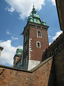 The tower of  Wawel Royal Cathedral of St Stanislaus B. M. and St Wenceslaus M., Krakow, Poland