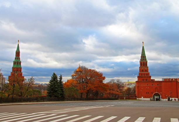 Moskova Rusya Kızıl Meydan Kulesi stok fotoğrafı