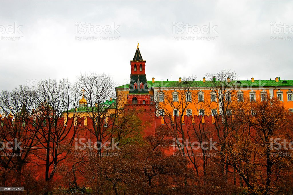 The Tower on the Red Square Moscow Russia stock photo