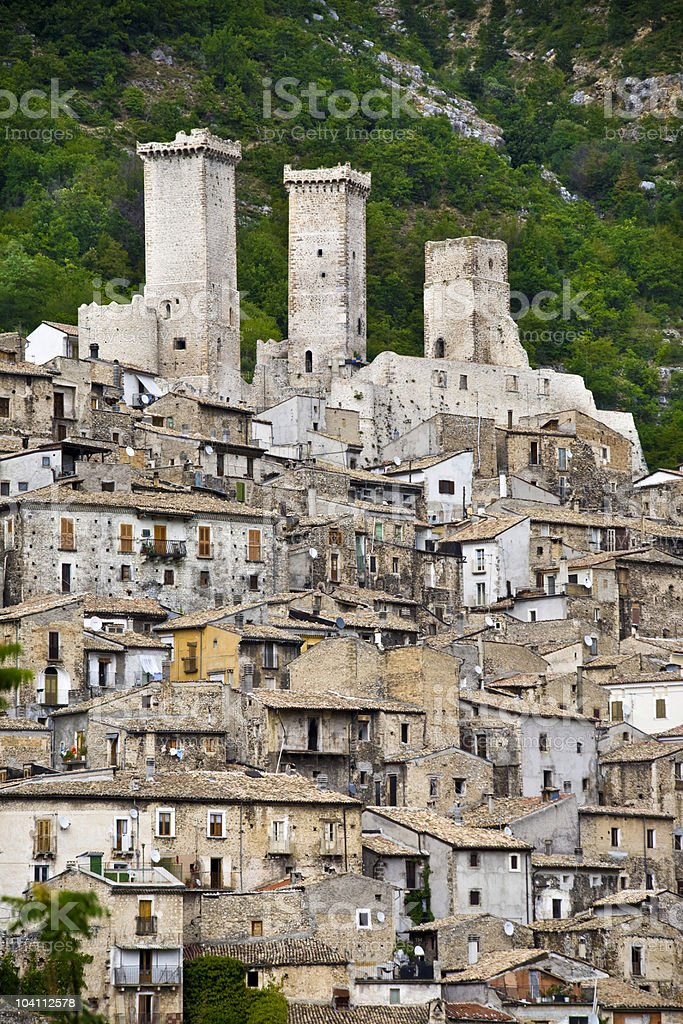 The towers of Pacentro royalty-free stock photo