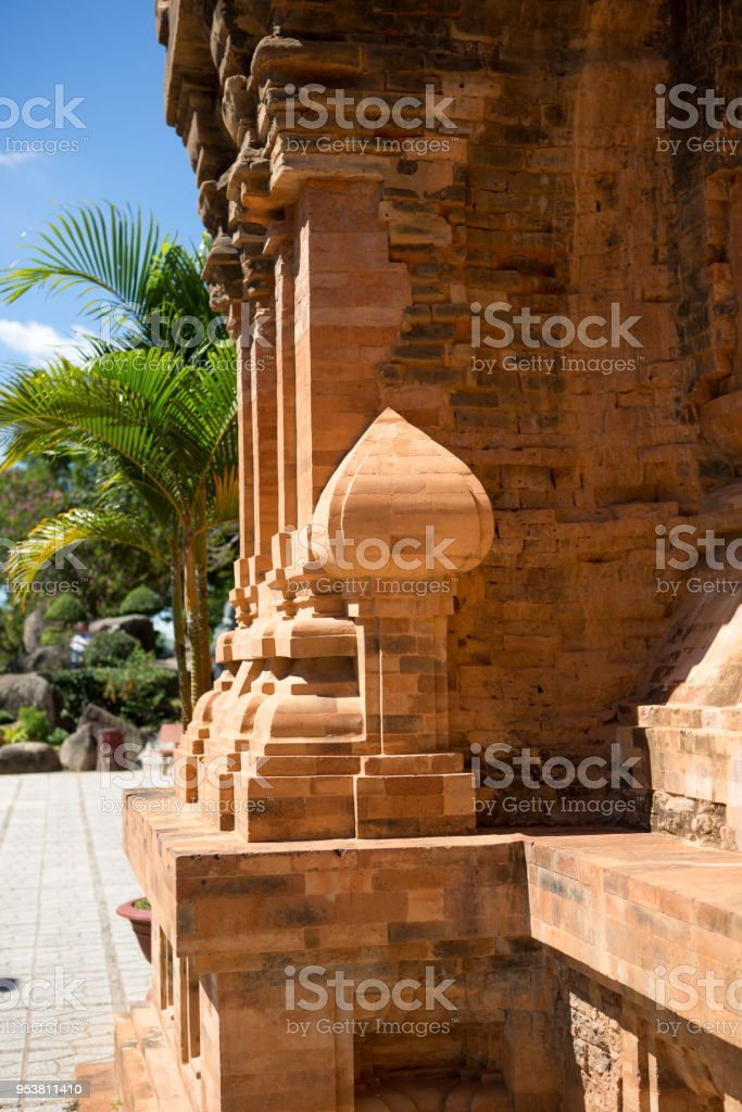 the towers of Po Nagar near Nha Trang in Vietnam. Towers were built by the Cham civilization stock photo