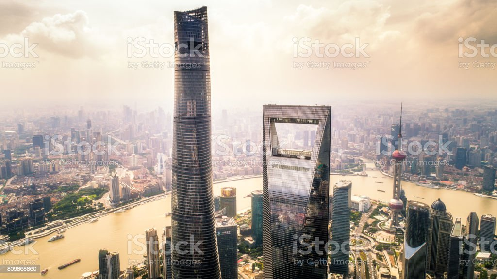 the towers stock photo