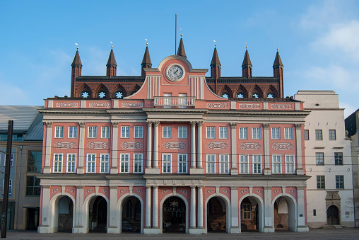 The Town Hall in Rostock, Germany