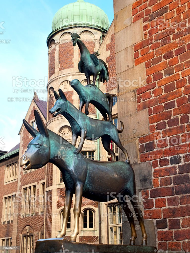 The Town Musicians of Bremen stock photo