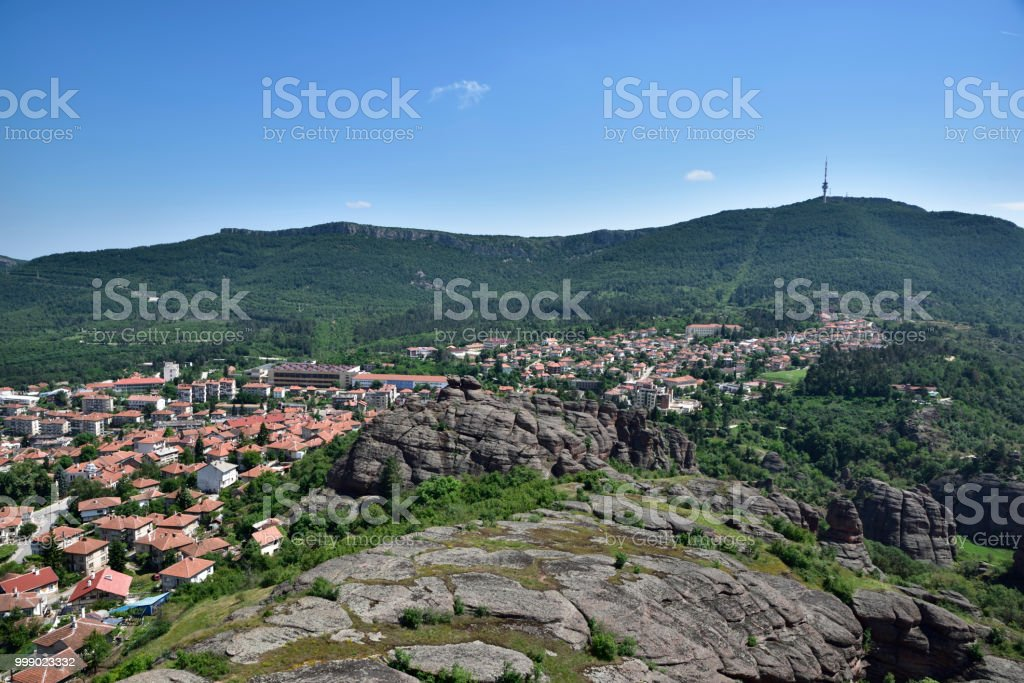 The town of Belogradchik stock photo