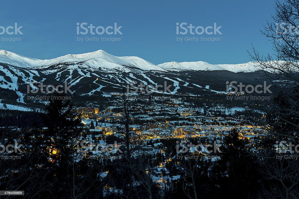 The Town of Breckenridge stock photo