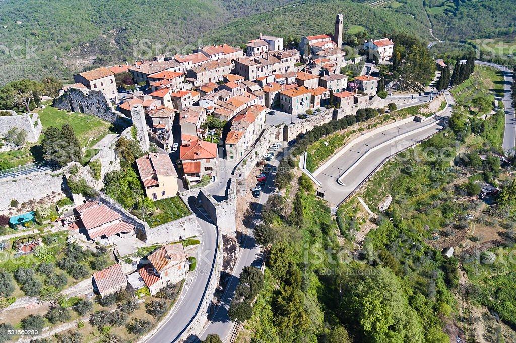 the town of Civitella in Val di Chiana stock photo