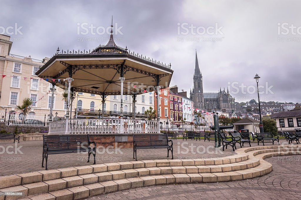 The Town of Cobh in County Cork, Ireland. stock photo
