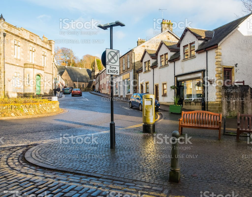 The Town of Dunblane in Scotland stock photo