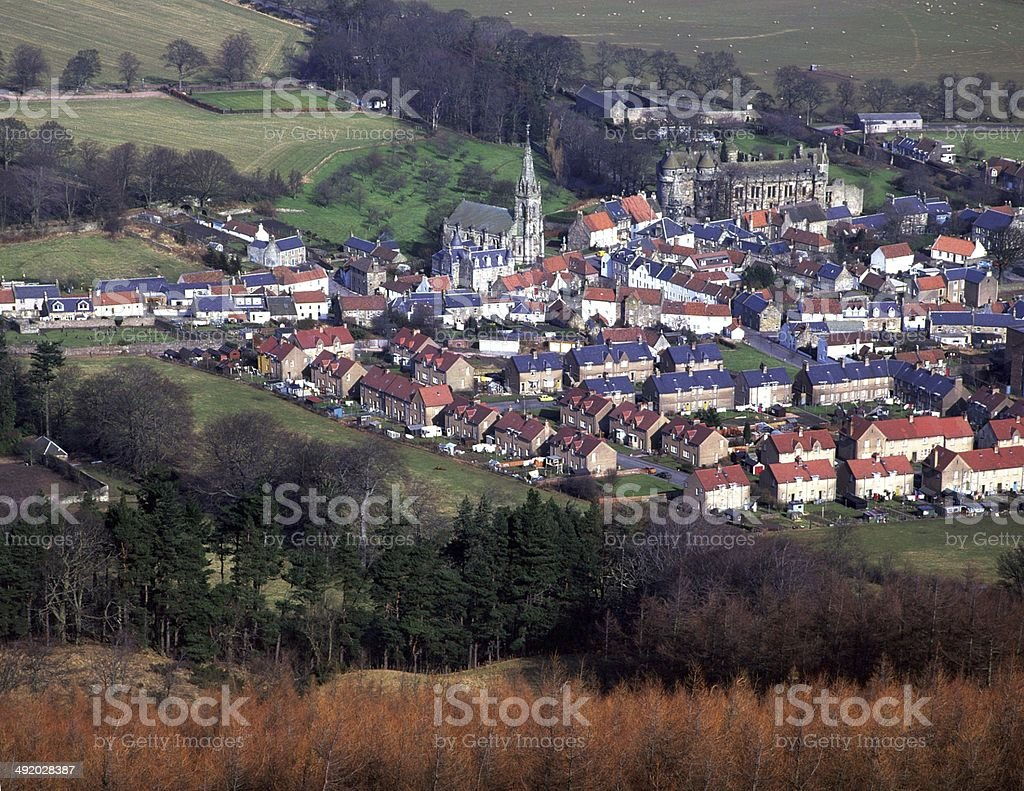 The Town of Falkland and its Palace Fife stock photo