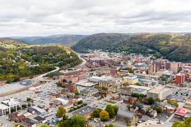 The Town Of Johnstown Pennsylvania From The Highest Point stock photo