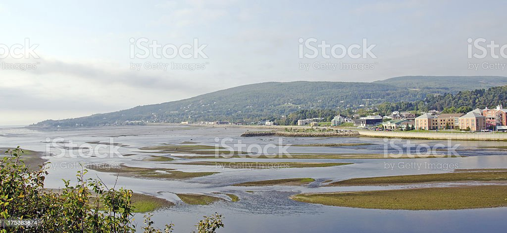 The Town of Malbaie , Quebec royalty-free stock photo