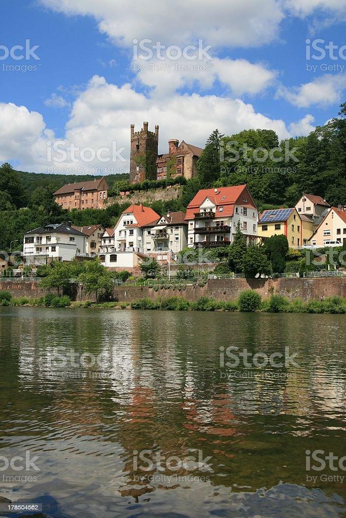 The town of Neckarsteinach, Germany stock photo