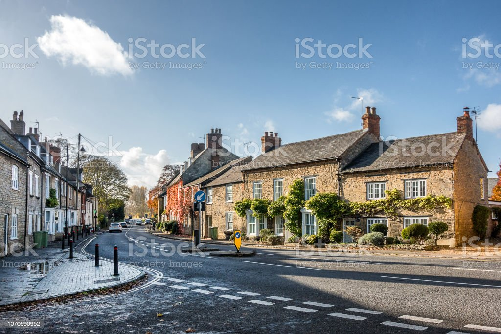 The town of Olney stock photo
