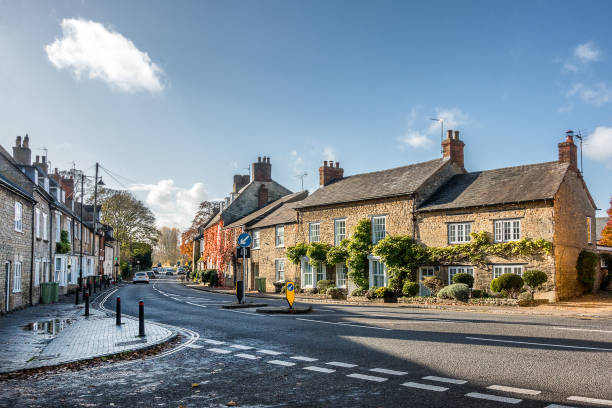 The town of Olney The market town of Olney in Buckinghamshire Englaand buckinghamshire stock pictures, royalty-free photos & images