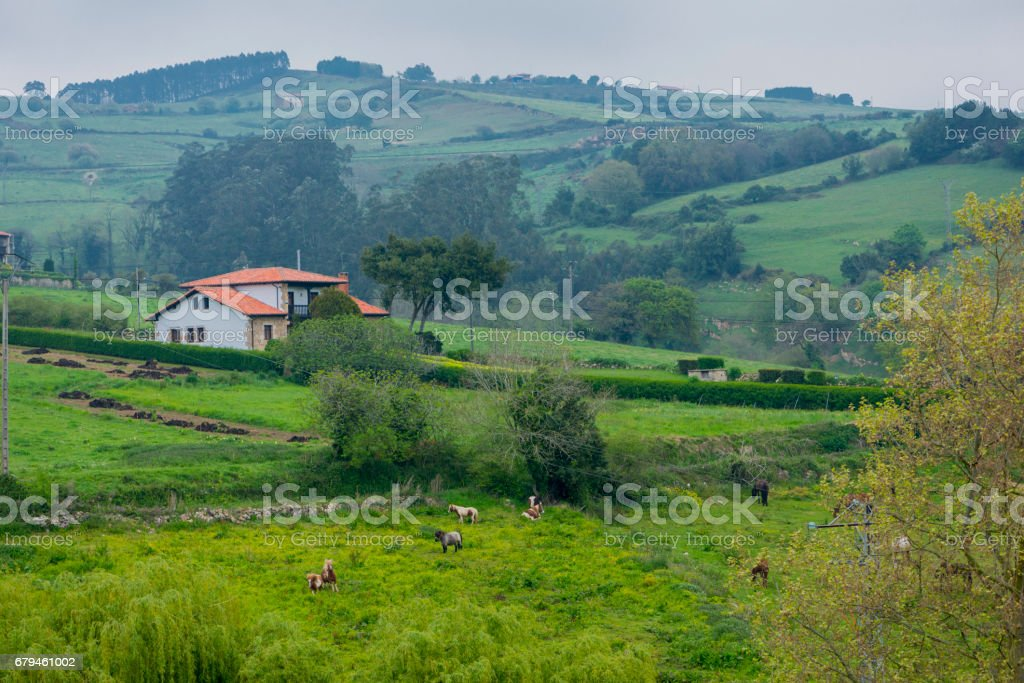 The town of Santillana de Mar in Cantabria royalty-free stock photo