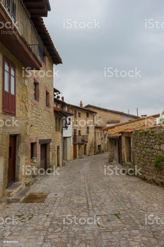 The town of Santillana de Mar in Cantabria royalty-free stock photo