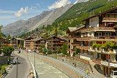 istock The town of Zermatt on the Swiss alps 1282305466