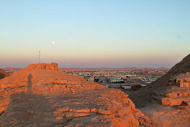 the town wadi halfa - sudan stock photos and pictures