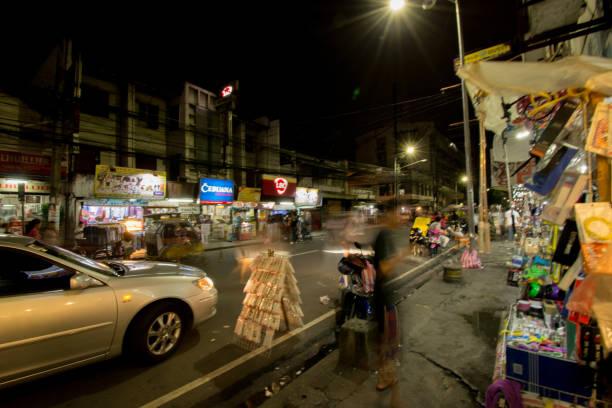 Das Stadtbild der Nacht in der Philippinen-Manila. – Foto