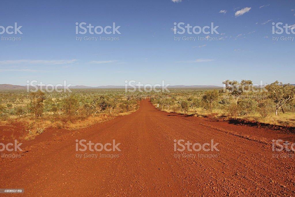 The track in Karijini National Park, Western Australia royalty-free stock photo