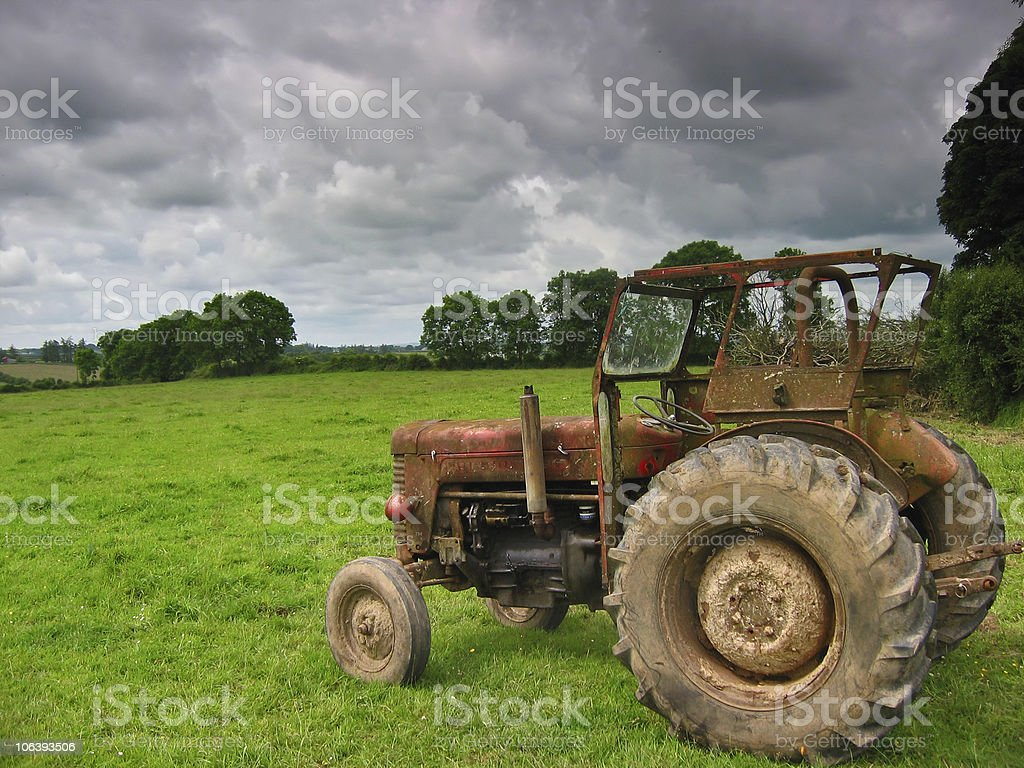 The tractor royalty-free stock photo