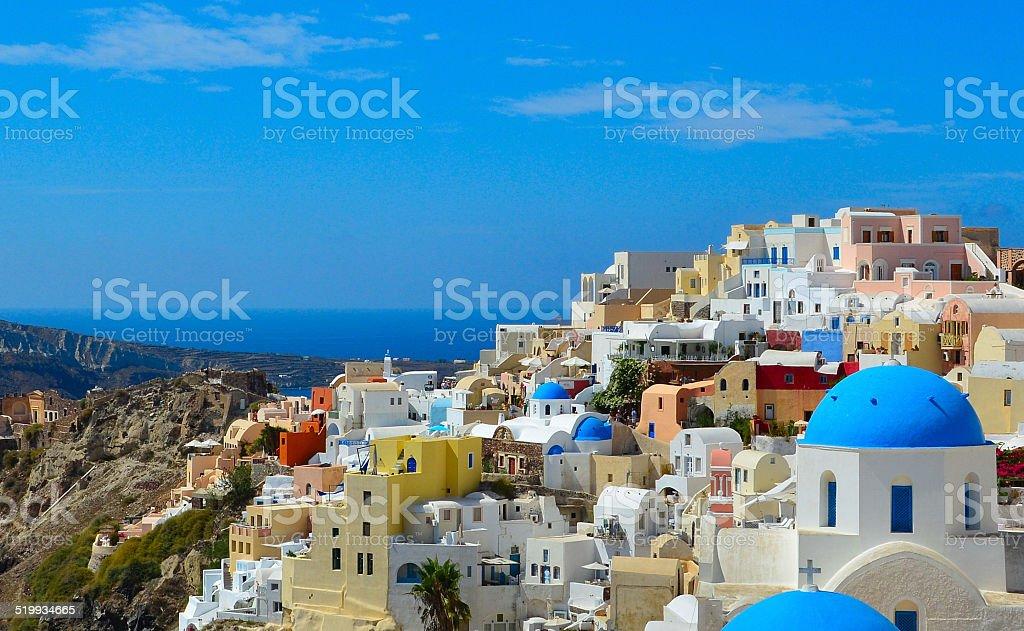 The traditional architecture of Santorini stock photo