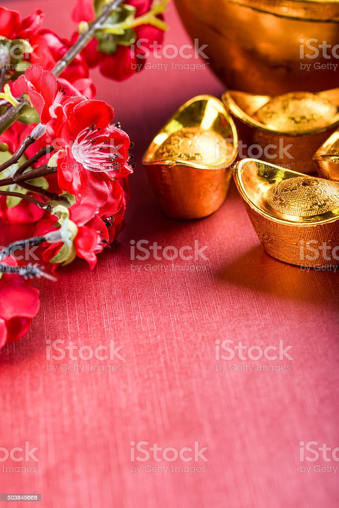 The traditional decorations for Chinese Spring Festival stock photo