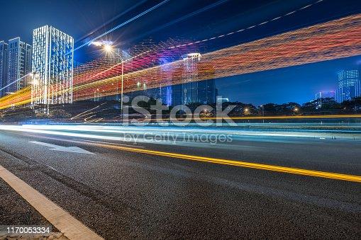515009182 istock photo the traffic light trails of city 1170053334