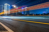 Speed, City, Night, Lighting Equipment, Blurred Motion