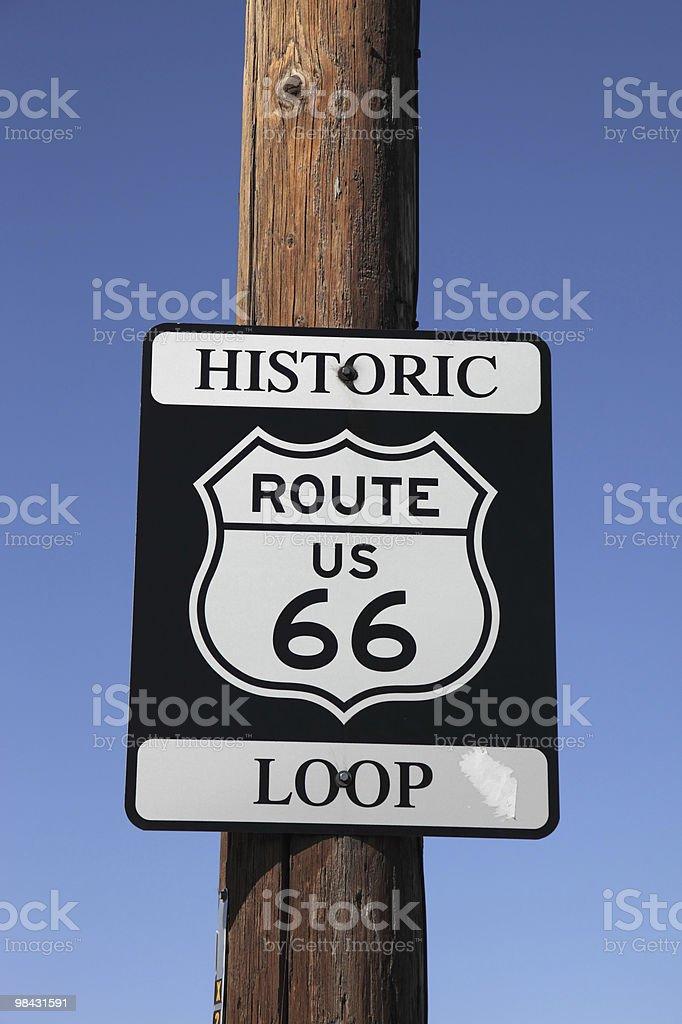 트래픽 팻말 역사적인 route 66 royalty-free 스톡 사진