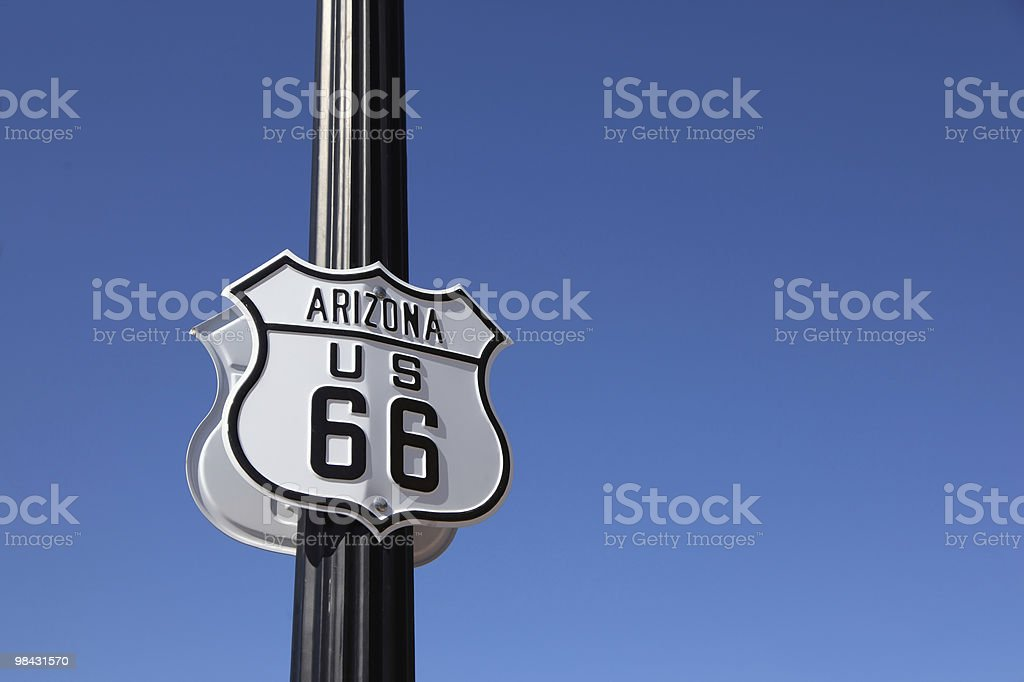 The traffic sign  on a metal column, royalty-free stock photo