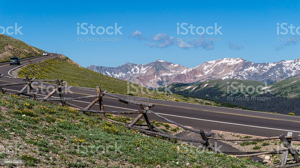 The Trail Ridge Road near the Alpine Visitor Center stock photo