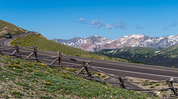 The Trail Ridge Road near the Alpine Visitor Center stock photo