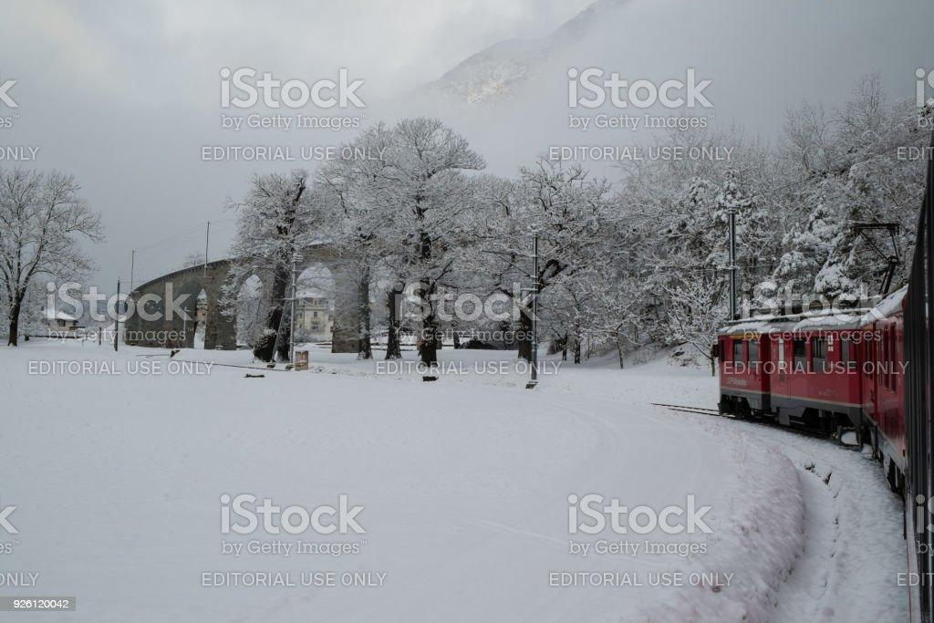 The train Bernina Express stock photo