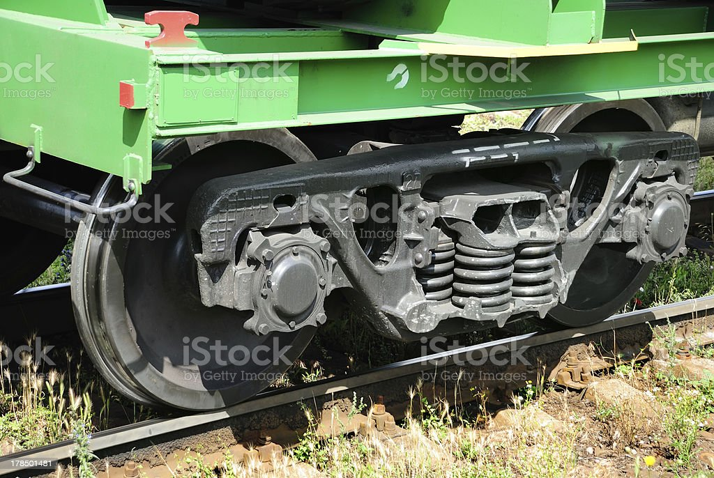 the train chassis stock photo