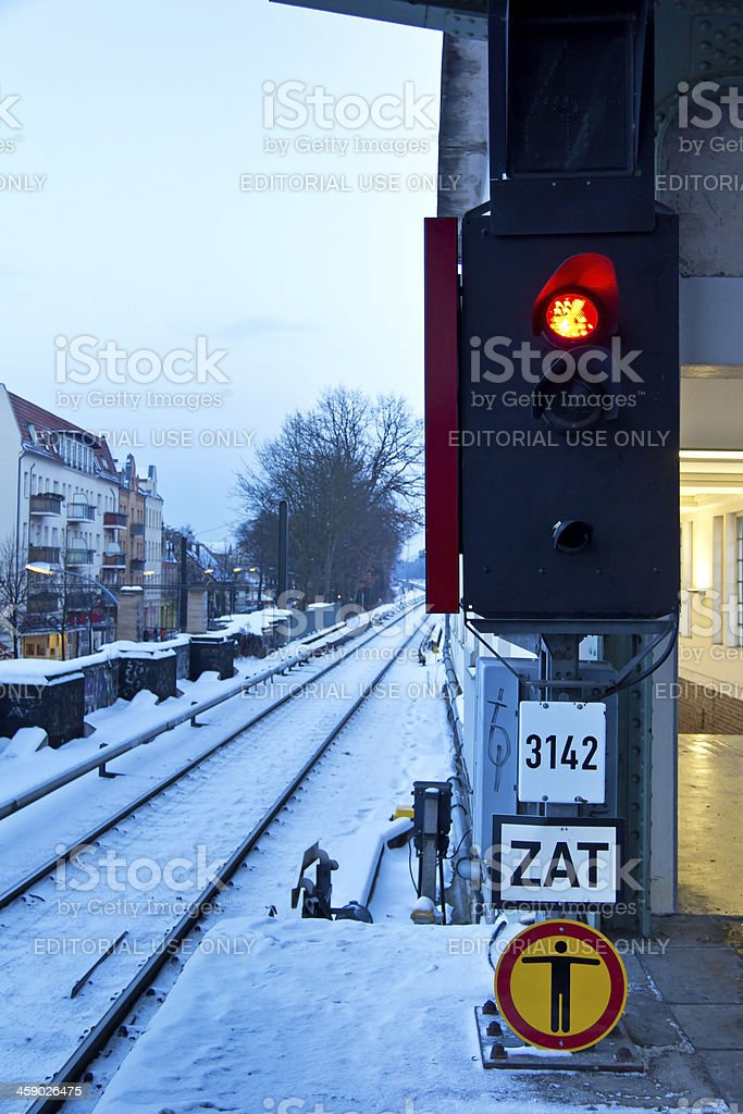 The train is not coming stock photo