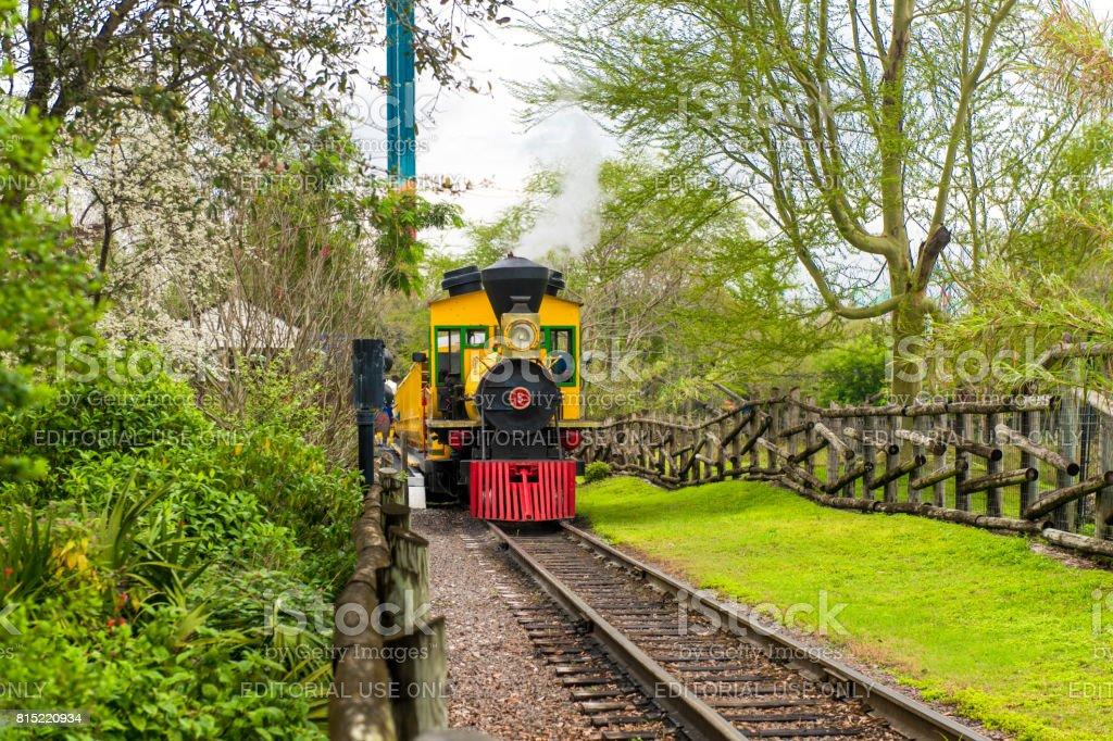 The train of amusement park stock photo