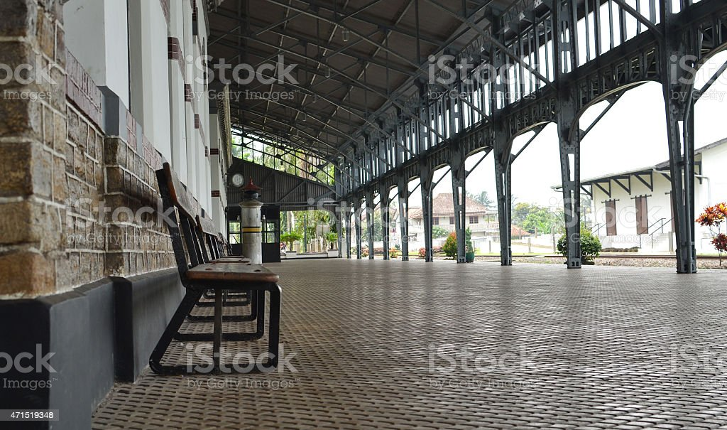 The Train Station stock photo