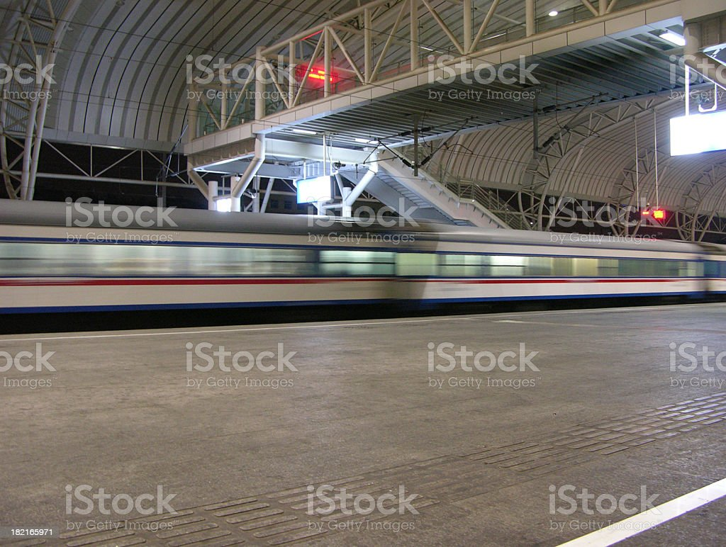 The train thundered past royalty-free stock photo